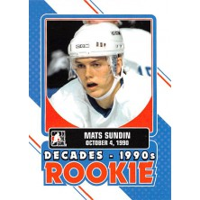 Sundin Mats - 2013-14 ITG Decades 1990s Rookies No.DR-2