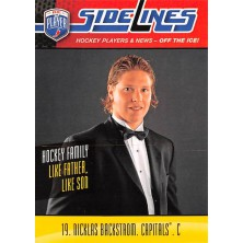 Backstrom Nicklas - 2009-10 Be A Player Sidelines No.S37