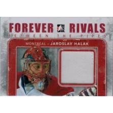 Halák Jaroslav - 2012-13 ITG Forever Rivals Between The Pipes Memorabilia Red No.BTP-10