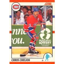 Chelios Chris 1990-91 Score Canadian No.15