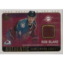 Blake Rob - 2002-03 Quest For the Cup Jerseys No.4